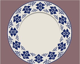 121 Blue & White Plate