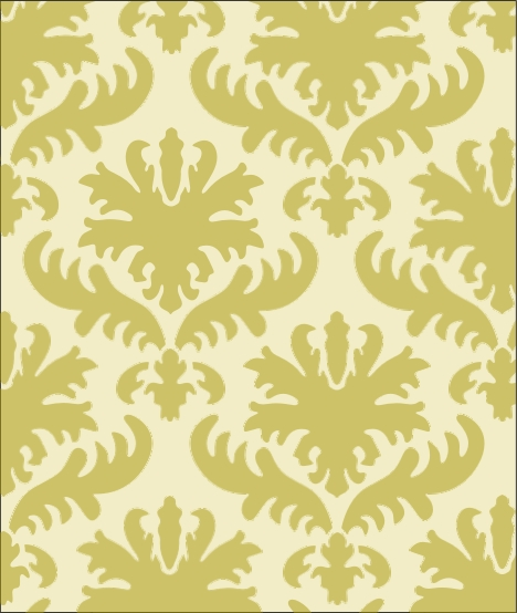 149 Damask Wall Stencil - Click Image to Close