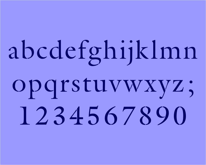 171 alphabet lower case