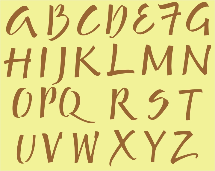 "702 Alphabet Template 1 1"" to 1.25"""