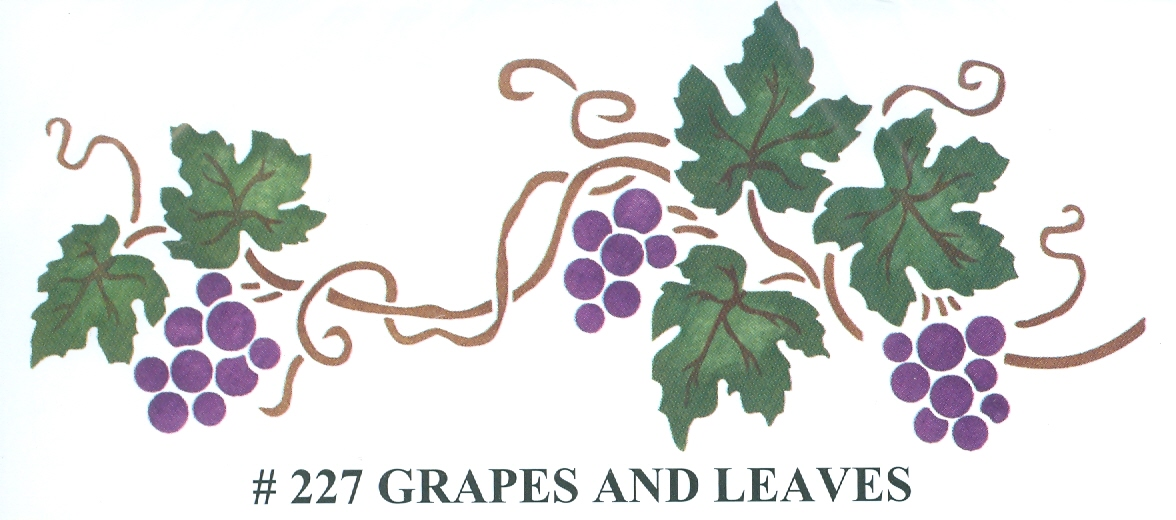 BEV00227 Grapes and Leaves