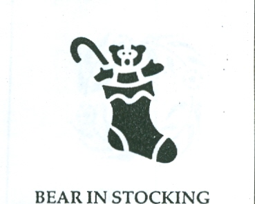 CBL12605 Bear in Stocking 5""