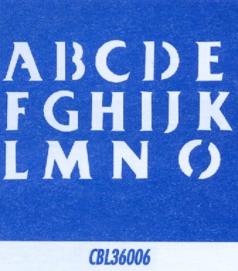 "CBL36006 Classic Alphabet A-O 1"" - Click Image to Close"