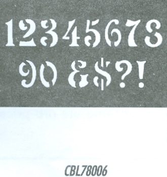 CBL78006 Monogram Guide: Antique Numbers 1.5""