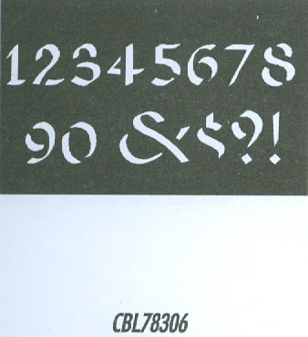 CBL78306 Monogram Guide: Celtic Numbers 1.5""