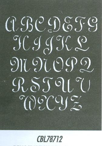 CBL78712 Monogram Guide: Penscript Upper 1.5""