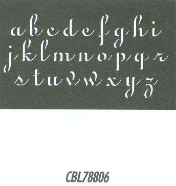 CBL78806 Monogram Guide: Penscript Lower 1.25""