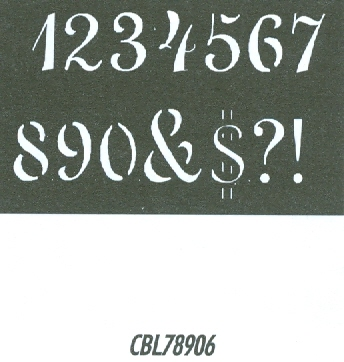 CBL78906 Monogram Guide: Penscript Numbers 1.5""