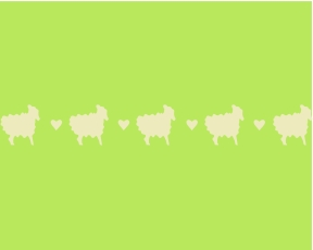 CBO20901 Sheepish Hearts 1""