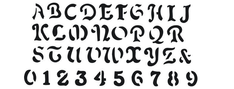 Pin spooky alphabet on pinterest for Spooky letter stencils
