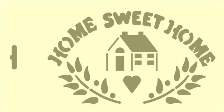 PRV72434 Home Sweet Home  $2.59 : Stencil Source, Stencils and