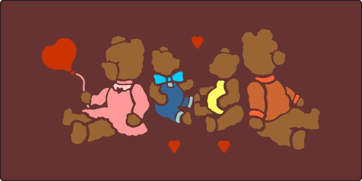PRV72443 Teddy Family