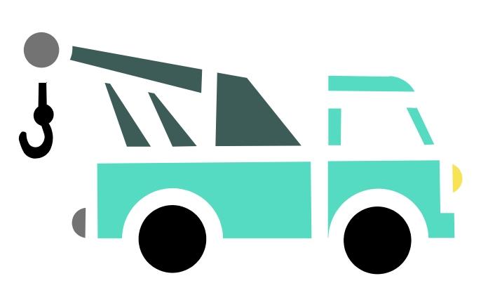 SFP01206 TOW TRUCK tow truck stencil [] - $0.99 : Stencil Source ...
