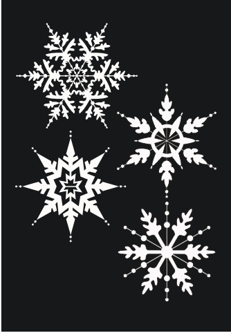 STU00112 Snowflakes - Click Image to Close